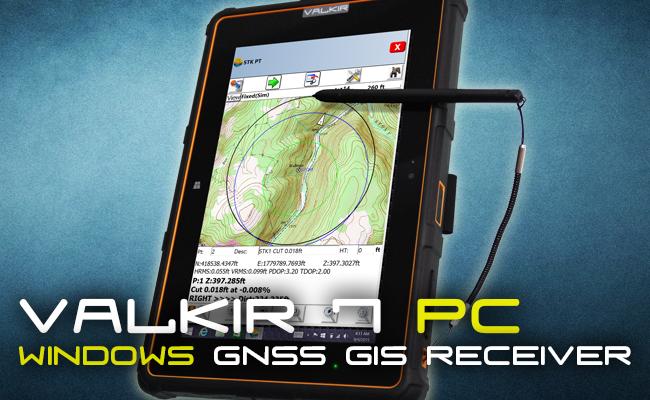 Receptor GNSS L1 Android Valkir 7 Tableta de 8